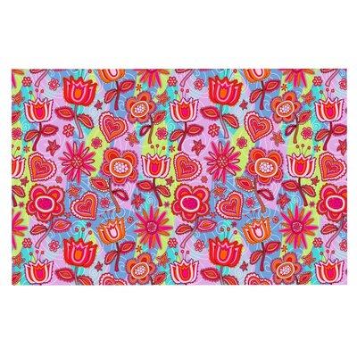 Julia Grifol My Folk Flowers Doormat