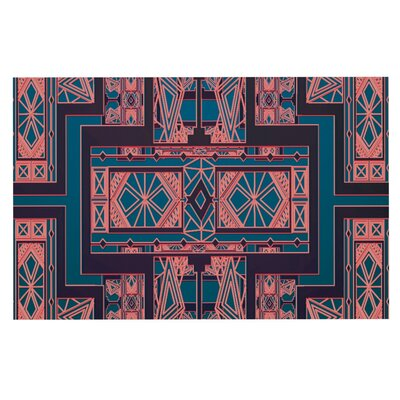 Nika Martinez Art Deco Doormat Color: Blue/Cora