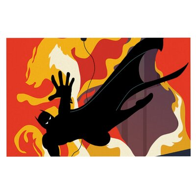 Kevin Manley Prodigal Son Batman Fire Doormat