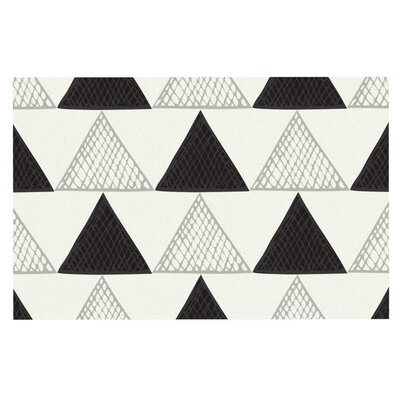 Laurie Baars Textured Triangles Geometric Abstract Doormat