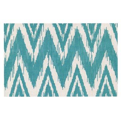 Heidi Jennings Tribal Chevron Doormat Color: Mint Green
