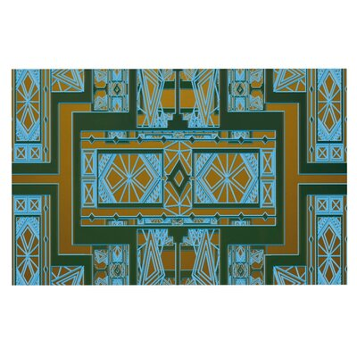 Nika Martinez Art Deco Doormat Color: Green/Blue