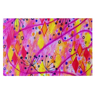 Ebi Emporium Into the Fall Doormat Color: Pink/Yellow