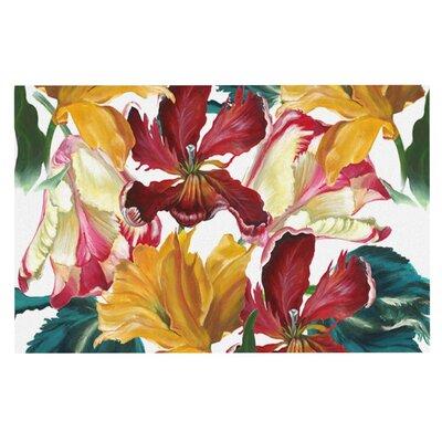 Lydia Martin Flower Power Floral Rainbow Doormat