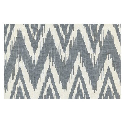 Heidi Jennings Tribal Chevron Doormat Color: Gray