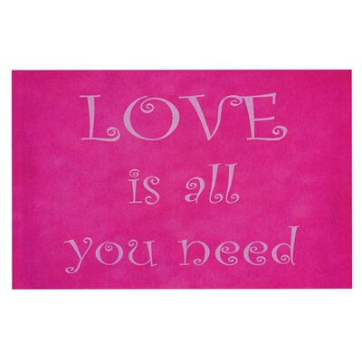 Iris Lehnhardt Love is all you need Quote Doormat