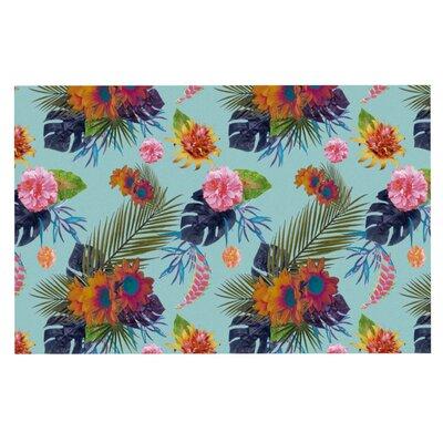 Nika Martinez Tropical Floral Flowers Doormat