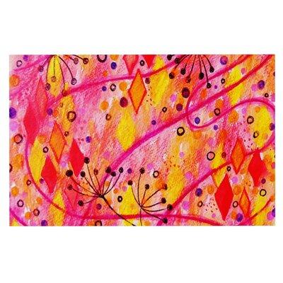 Ebi Emporium Into the Fall Doormat Color: Orange/Pink