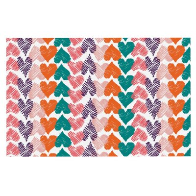 Louise Machado Hearts Doormat