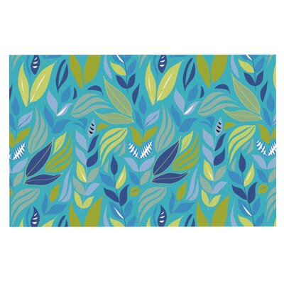 Michelle Drew Underwater Bouquet Doormat Color: Blue