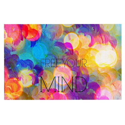 Ebi Emporium Free Your Mind Rainbow Doormat