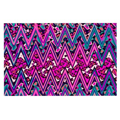 Nika Martinez Electric Chevron Doormat Color: Pink