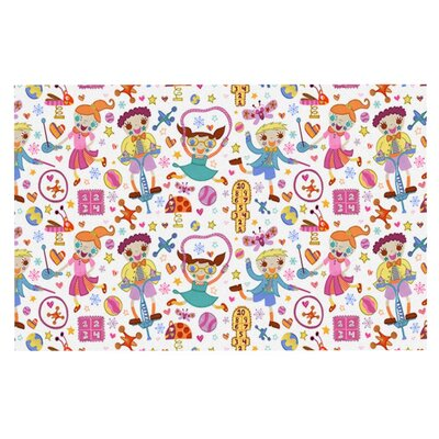 Jane Smith Vintage Playground IIII Rainbow Doormat
