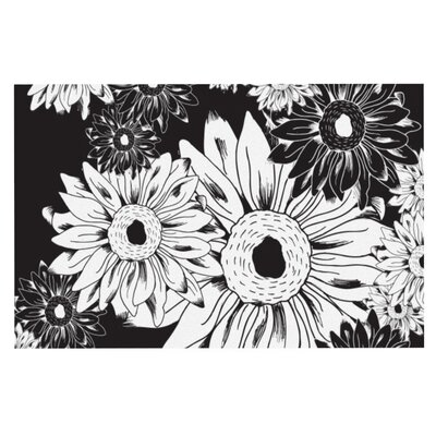 Laura Escalante Midnight Florals Sunflower Doormat