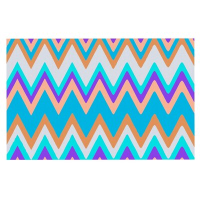 Nika Martinez Girly Surf Chevron Doormat