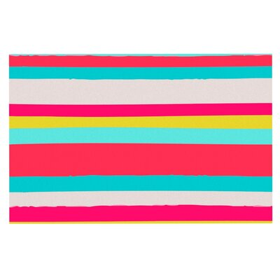 Nika Martinez Girly Surf Stripes Doormat