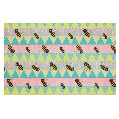 Louise Machado Little Bee Pastel Chevron Doormat