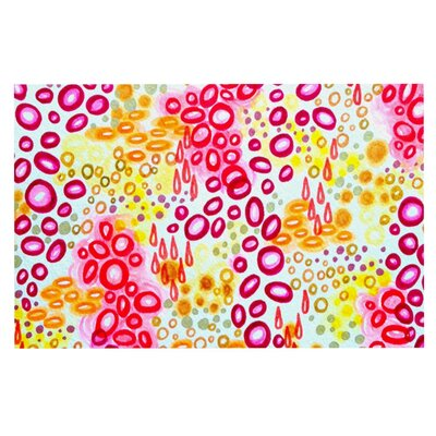 Ebi Emporium Circular Persuasin Doormat Color: Pink/Yellow