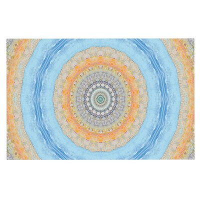 Iris Lehnhardt Summer Mandala Circle Doormat
