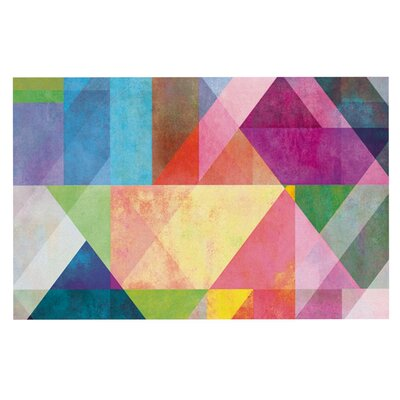 Mareike Boehmer 'Color Blocking' Rainbow Abstract Doormat