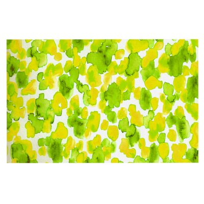 Ebi Emporium Giraffe Spots Doormat Color: Green/Yellow