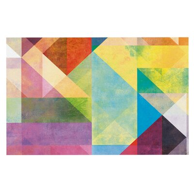Mareike Boehmer 'Color Blocking II' Rainbow Abstract Doormat