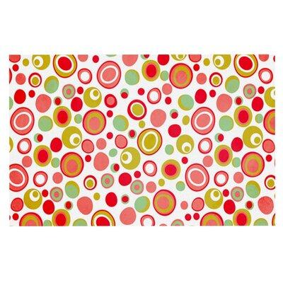 Louise Machado Bubbles Warm Circles Doormat