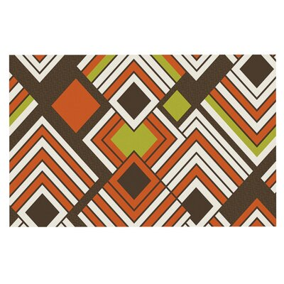 Jacqueline Milton Luca Doormat Color: Brown/Orange