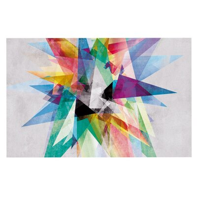 Mareike Boehmer 'Colorful' Rainbow Abstract Doormat
