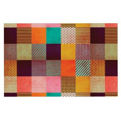Louise Machado Decorative Pixel Warm Patches Doormat