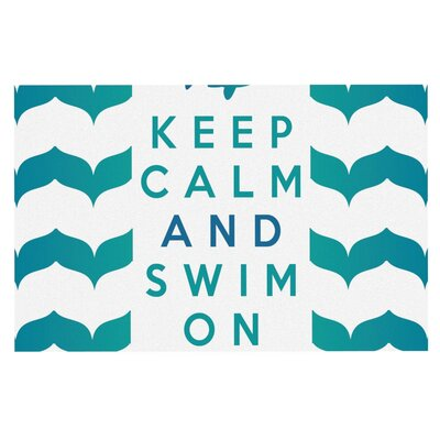 Nick Atkinson Keep Calm and Swim On Doormat