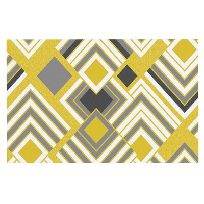 Jacqueline Milton Luca Doormat Color: Yellow/Gray