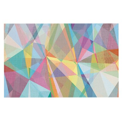 Mareike Boehmer 'Graphic 32' Rainbow Abstract Doormat