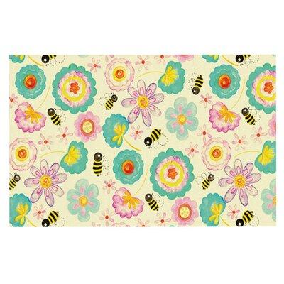 Louise Machado Floral Bee Doormat