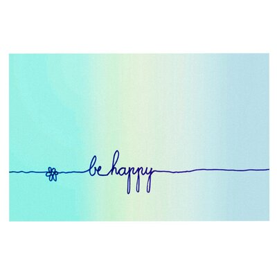 Monika Strigel Be Happy Simple Doormat