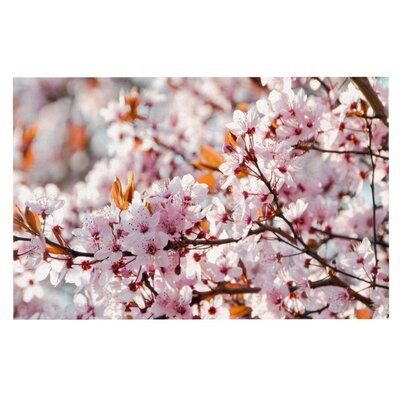 Iris Lehnhardt Flowering Plum Tree Blossoms Doormat