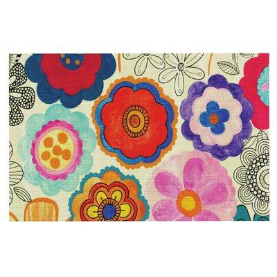 Louise Machado Charming Floral Floral Doormat