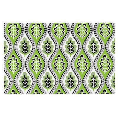 Jacqueline Milton Oak Leaf Floral Doormat Color: Green