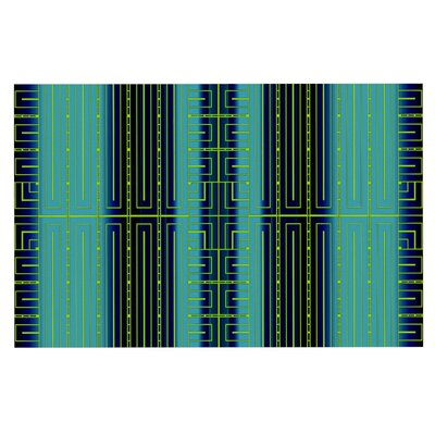 Nina May Deco City Doormat Color: Black/Blue/Green