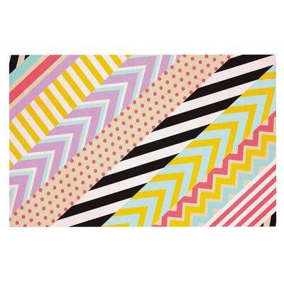 Louise Machado Diagonal Tape Multicolor and Geometric Doormat