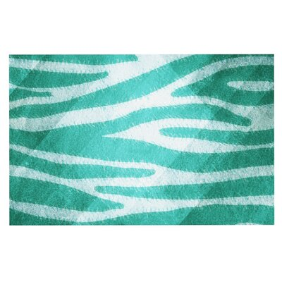 Nick Atkinson 'Zebra Print Texture' Doormat Color: Blue