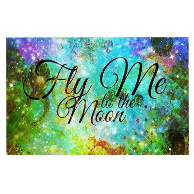 Ebi Emporium Fly Me to the Moon Doormat