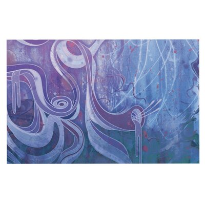 Mat Miller Electric Dreams Doormat Color: Blue/Purple