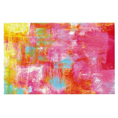 Ebi Emporium Off the Grid Painting Doormat Color: Red/Pink