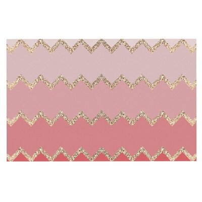 Monika Strigel Avalon Ombre Doormat Color: Pink/Chevron