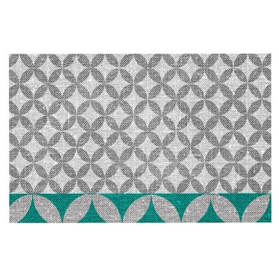 Nick Atkinson 'Diamond' Doormat Color: Turquoise