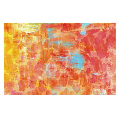 Ebi Emporium Pastel Jungle Doormat Color: Orange/Red