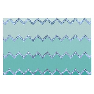 Monika Strigel Avalon Ombre Doormat Color: Aqua/Green