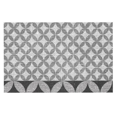 Nick Atkinson Diamond Doormat Color: Black