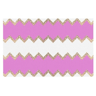 Monika Strigel Avalon Soft and Chevron Doormat Color: Pink